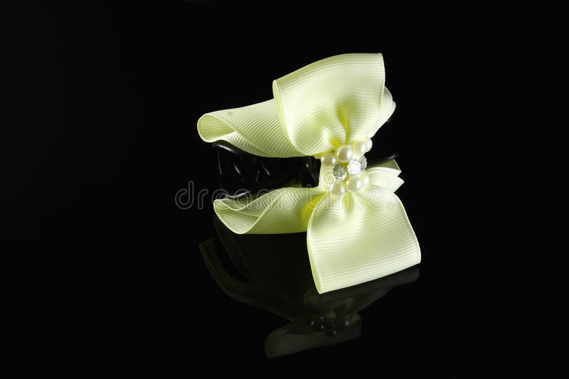 Download Pale yellow pearl hairpin stock photo. Image of jeweller - 39678804