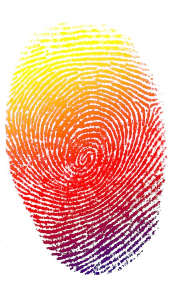 palec odizolowane druku zdjęcie royalty free