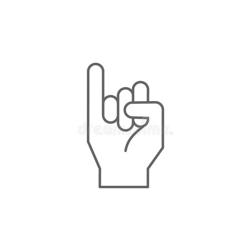 Palec, ręka, obietnicy ikona r Cienka kreskowa ikona dla strona internetowa projekta i rozwoju, app rozw?j ilustracja wektor
