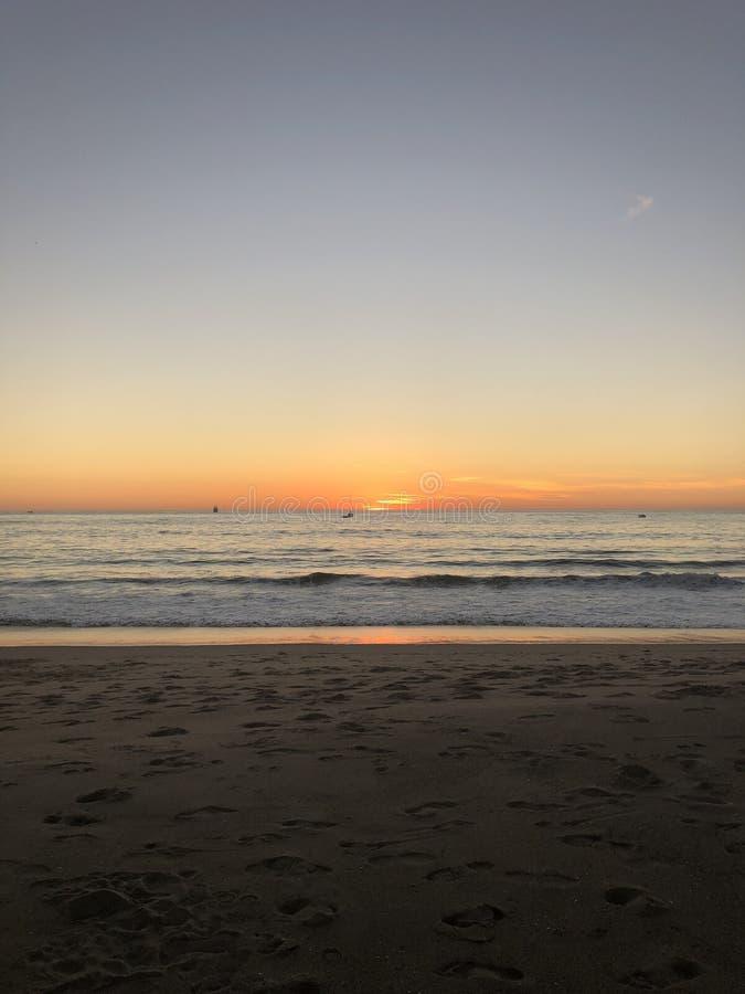 Palec u nogi w piasku fotografia stock
