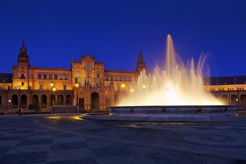 Paleis bij Spaans Vierkant in Sevilla Spanje stock fotografie