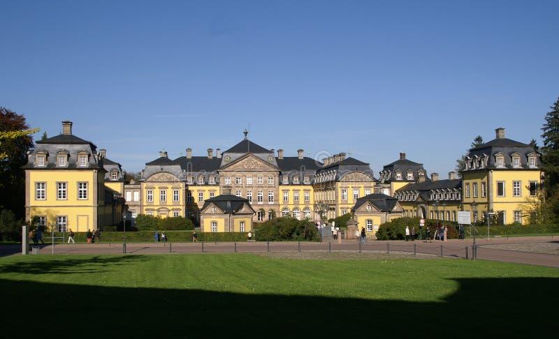 paleis in de stad Slechte Arolsen stock foto's