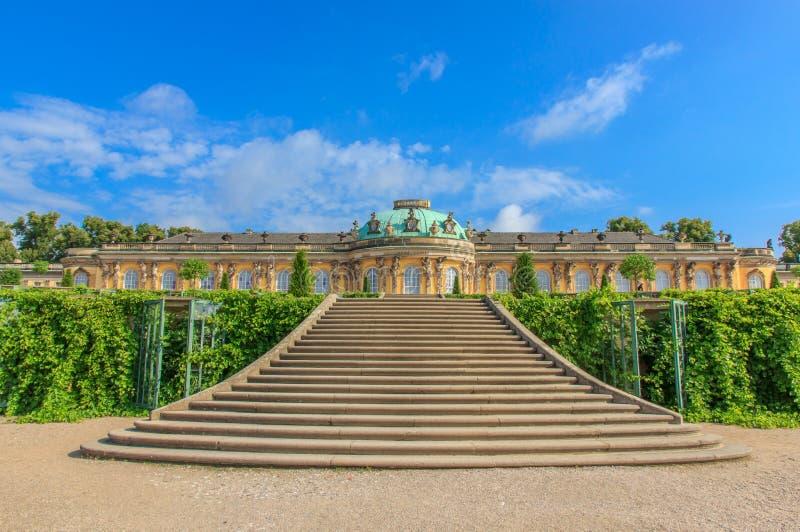 Paleis en park Sanssouci, Potsdam, Duitsland royalty-vrije stock afbeelding