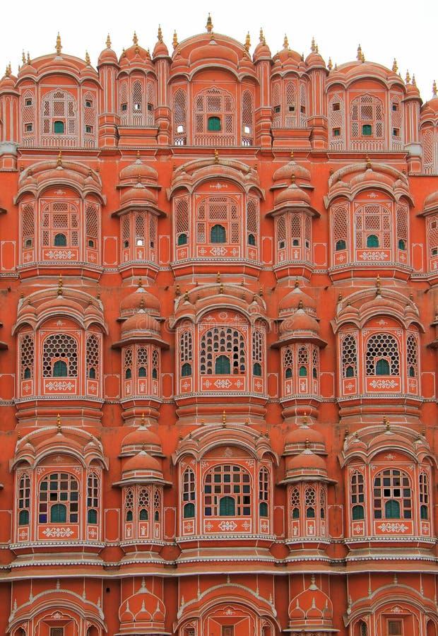 Paleis Hawa Mahal in Jaipur, India stock afbeeldingen