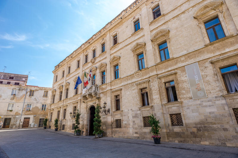 Paleis Hertogelijk in Sassari stock afbeelding