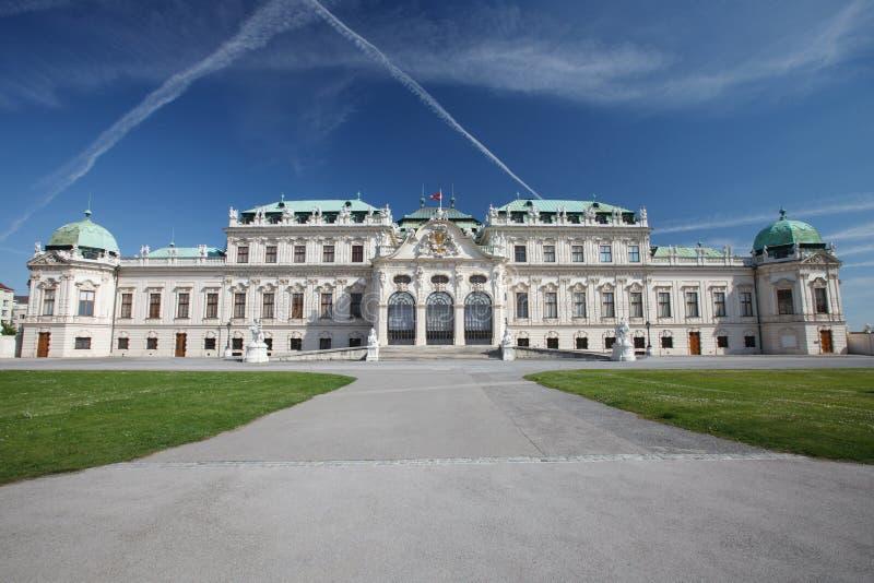 Paleis Hogere die Belvedere, in de 18de eeuw in B wordt gebouwd royalty-vrije stock fotografie