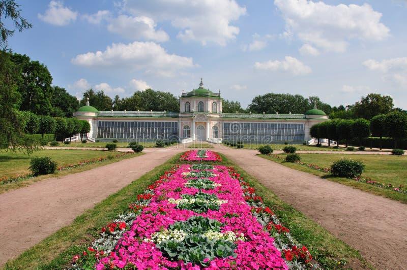 Paleis in Kuskovo. royalty-vrije stock afbeelding