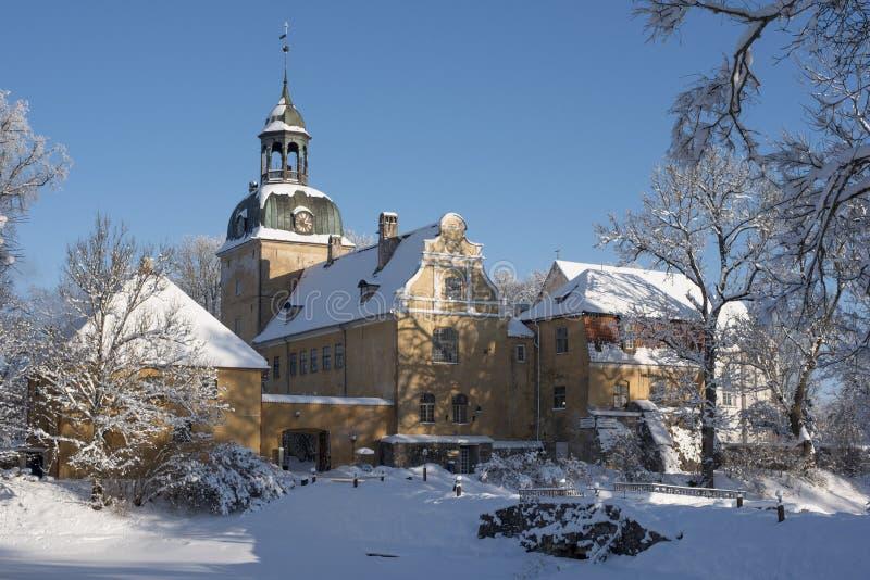 Paleis Lielstraupe in Letland royalty-vrije stock afbeelding