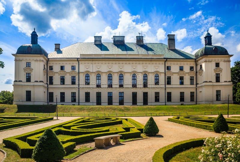 Paleis in Lubartow, Polen royalty-vrije stock foto