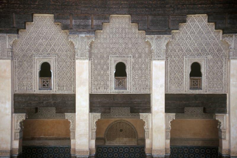 Paleis in Marrakech, Marokko stock foto's