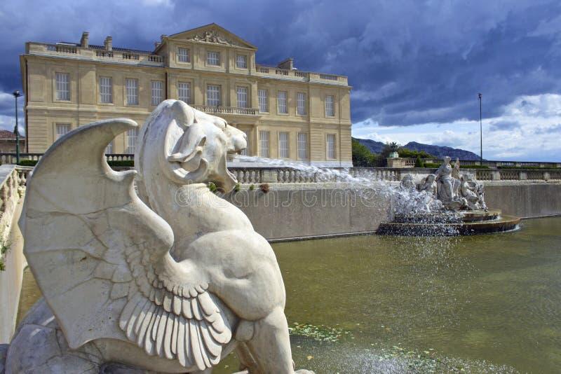 Paleis in Marseille, Frankrijk royalty-vrije stock afbeelding