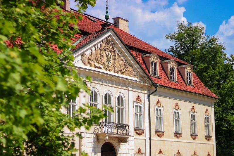 Paleis in Nieborow Polen stock afbeeldingen
