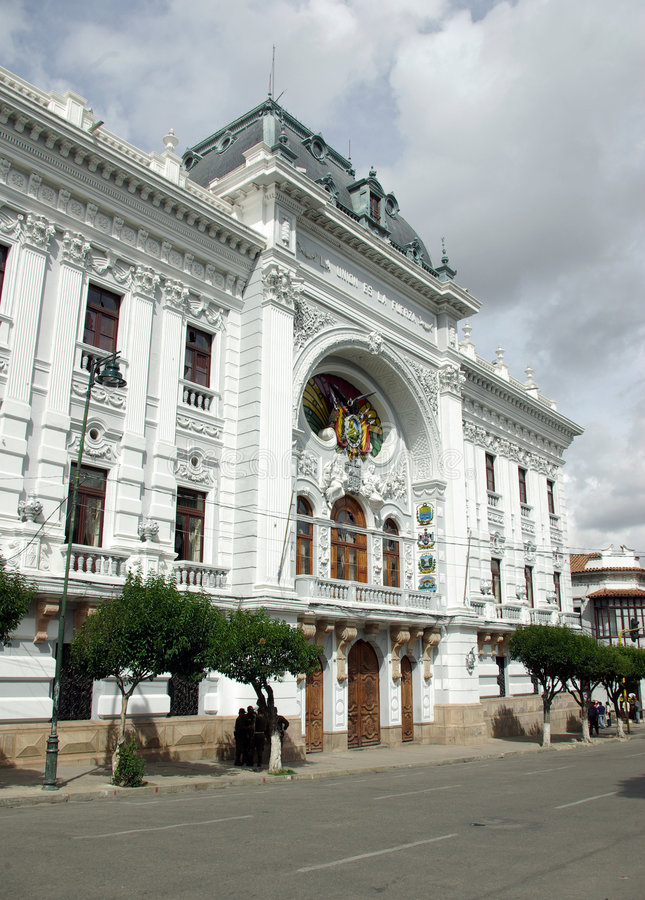Paleis in Sucre, Bolivië royalty-vrije stock afbeelding