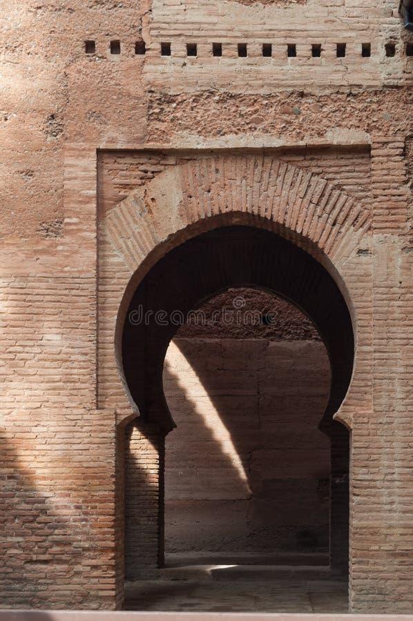 Paleis van Alhambra in Granada stock foto