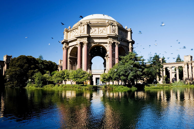 Paleis van beeldende kunsten, San Francisco stock fotografie