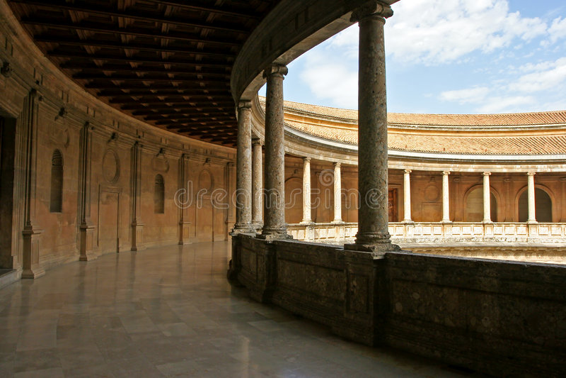 Paleis van Charles V stock afbeeldingen