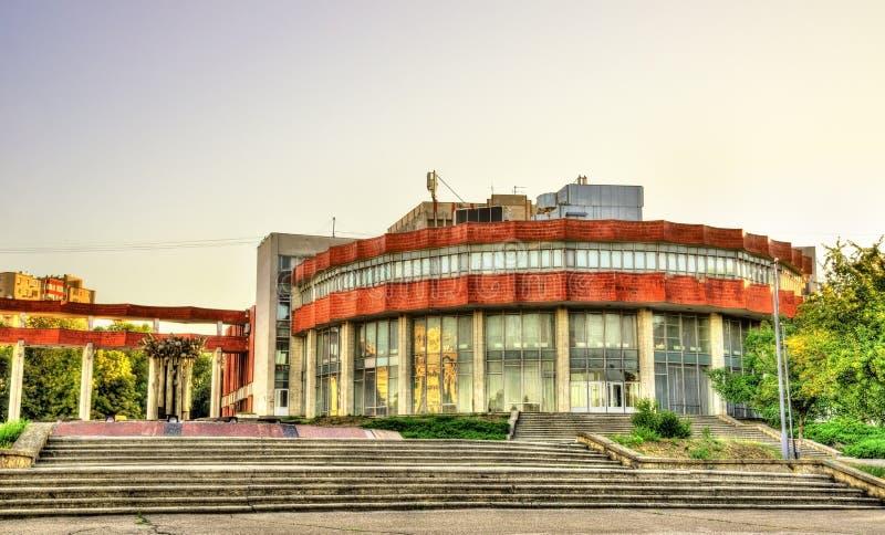 Paleis van Cultuur van Spoorwegarbeiders in Chisinau stock fotografie