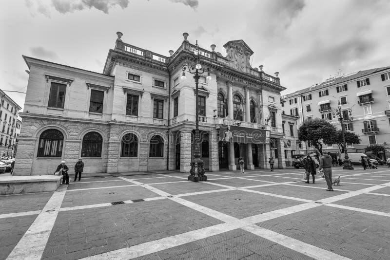 Paleis van de gemeente van Savona, Italië royalty-vrije stock foto's