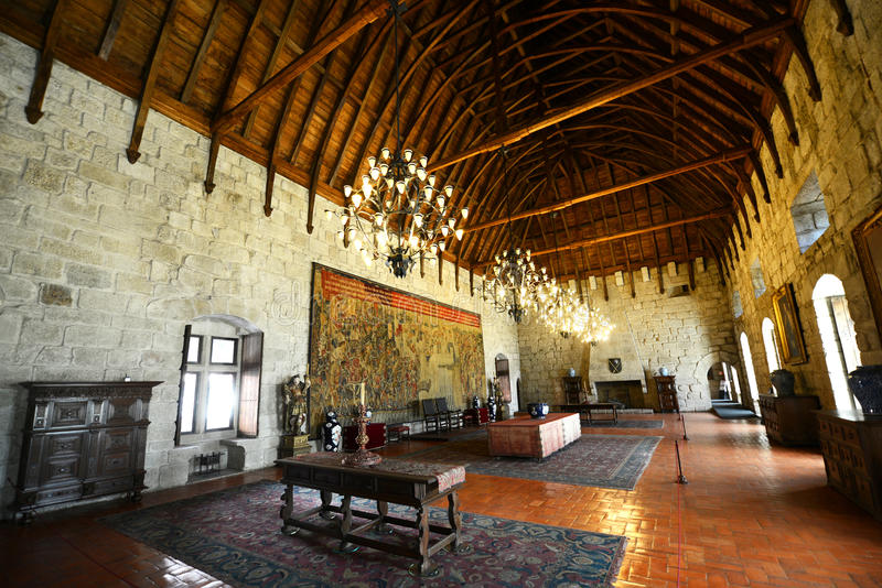 Paleis van de Hertogen van Braganza, Guimarães, Portugal royalty-vrije stock afbeeldingen