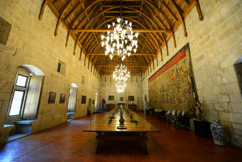 Paleis van de Hertogen van Braganza, Guimarães, Portugal royalty-vrije stock afbeelding
