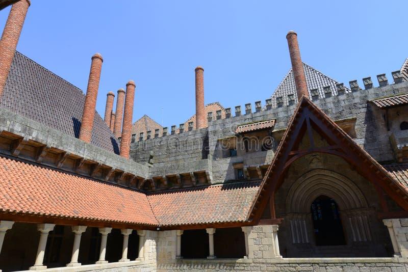 Paleis van de Hertogen van Braganza, Guimarães, Portugal stock afbeelding