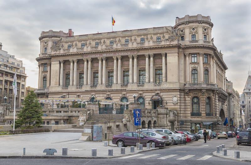 Paleis van de Nationale Militaire Cirkel, Boekarest stock afbeelding