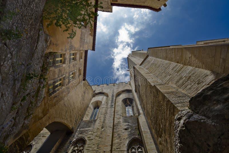 Paleis van de pausen. stock afbeelding