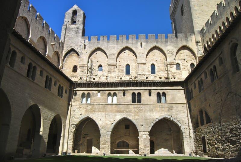 Paleis van de Pausen Avignon Frankrijk stock fotografie