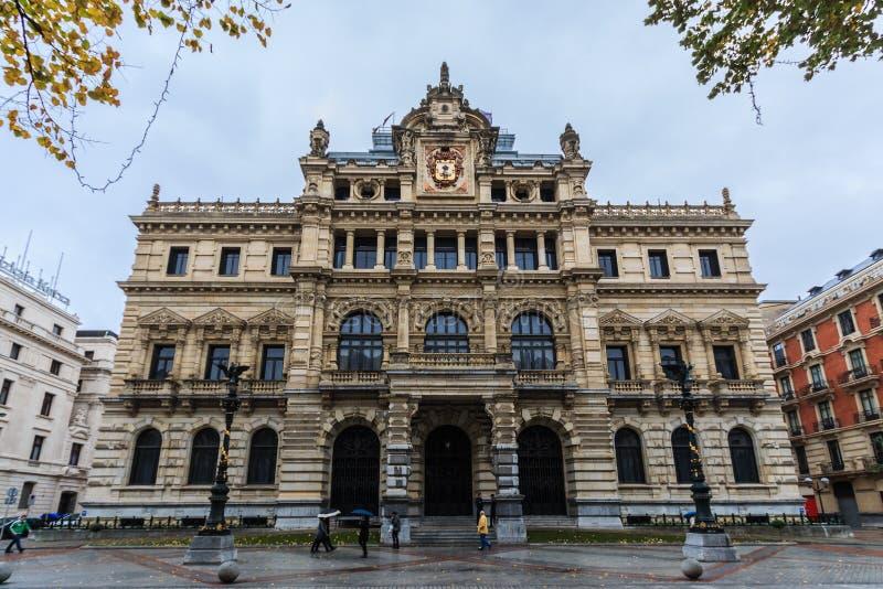Paleis van de Provinciale Overheid van Biskaje royalty-vrije stock afbeeldingen