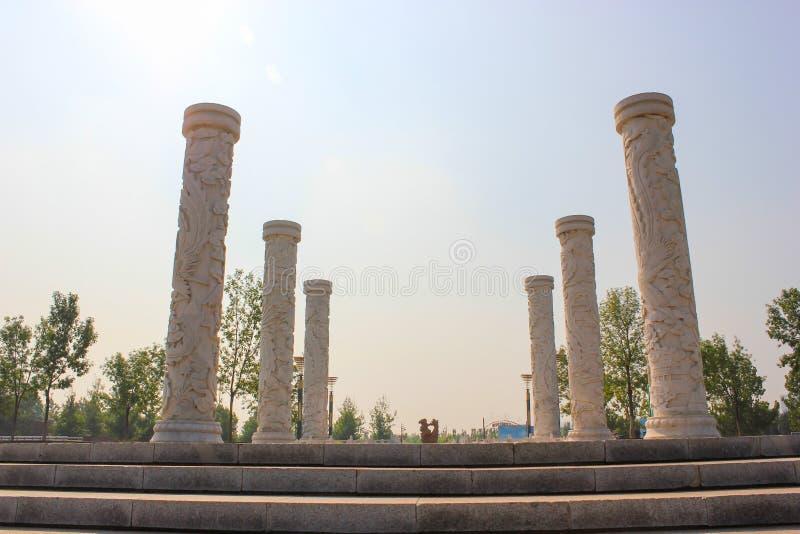 Paleis van de Zomer van China Peking Yuanmingyuan het ruïne-Oude royalty-vrije stock foto