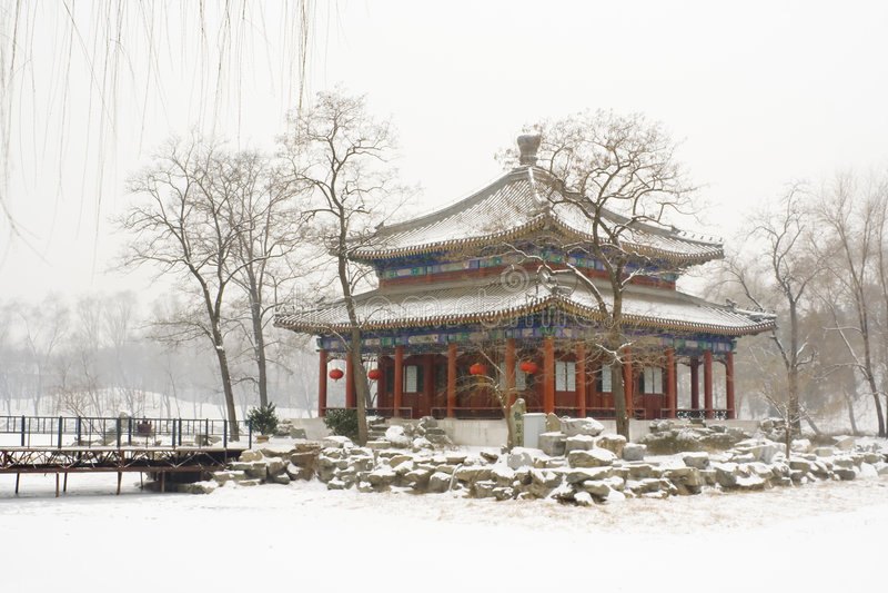 Paleis van de Zomer van Peking het oude royalty-vrije stock foto