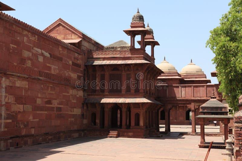 Paleis van Fatehpur in India stock foto's
