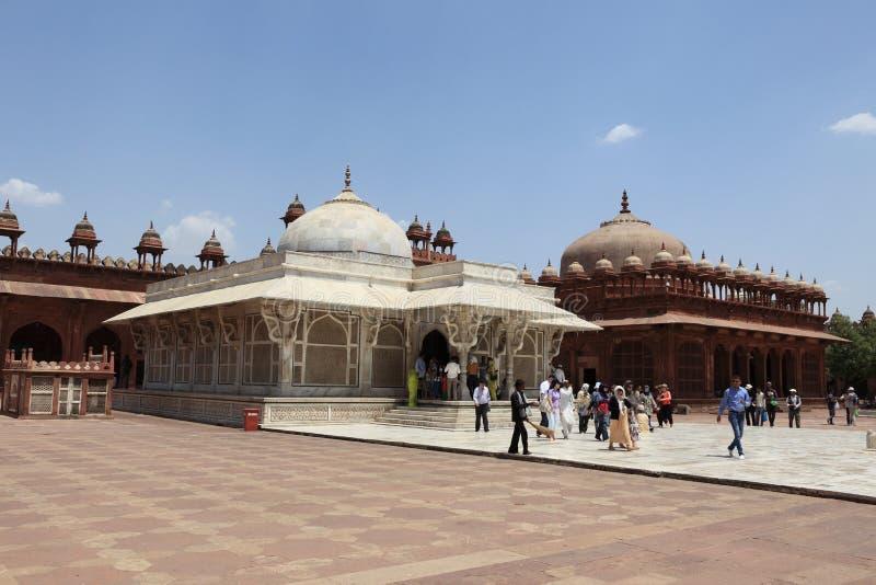 Paleis van Fatehpur in India stock afbeelding