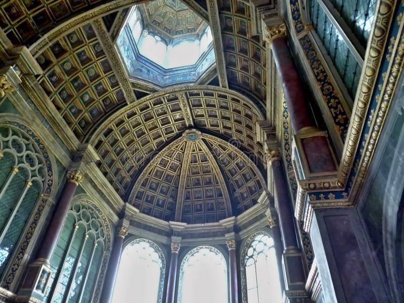 Paleis van Fontainebleau stock afbeeldingen