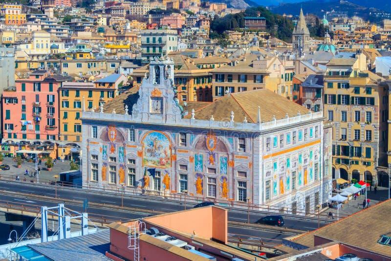 Paleis van Heilige George in Genua, Italië royalty-vrije stock foto