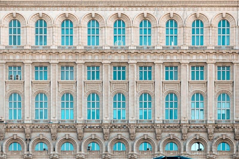 Paleis van het Parlement, Huis van Mensen Boekarest Roemenië stock foto's