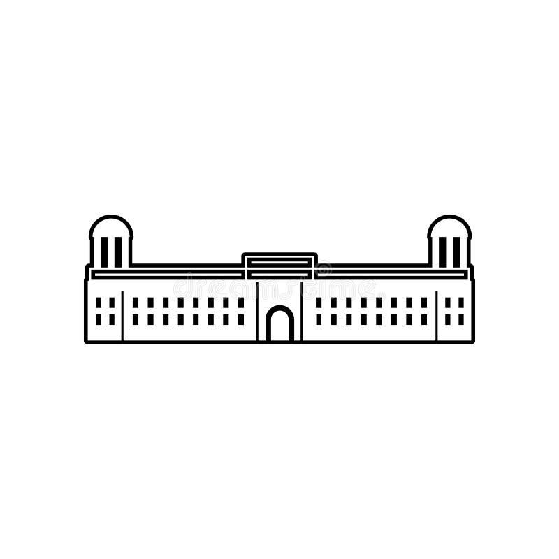 paleis van het pictogram van India Element van India voor mobiel concept en webtoepassingenpictogram Overzicht, dun lijnpictogram vector illustratie