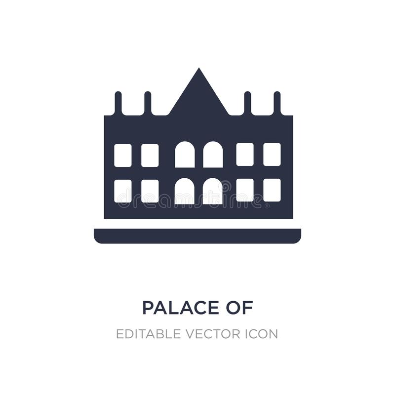 paleis van het pictogram van Versailles op witte achtergrond Eenvoudige elementenillustratie van Monumentenconcept stock illustratie