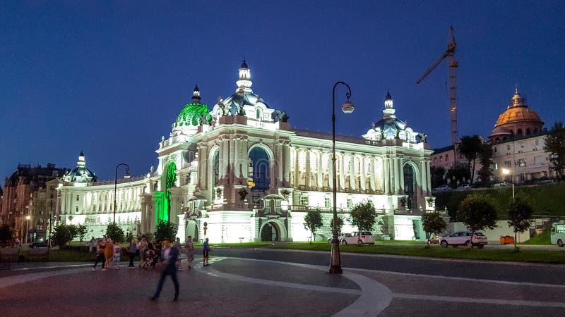 Paleis van Landbouwers in Kazan - de Bouw van het Ministerie van landbouw en voedsel, Republiek Tatarstan, Rusland royalty-vrije stock afbeelding