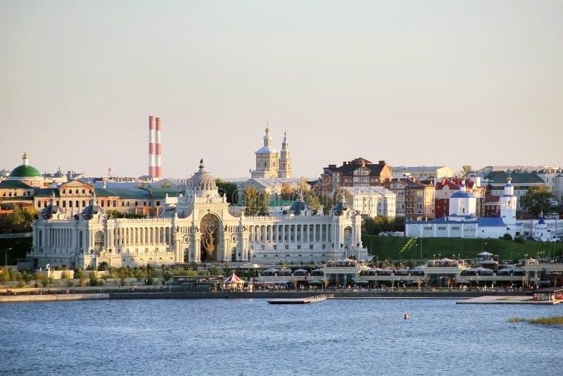 Paleis van Landbouwers in Kazan - de Bouw van het Ministerie van agricul stock afbeelding