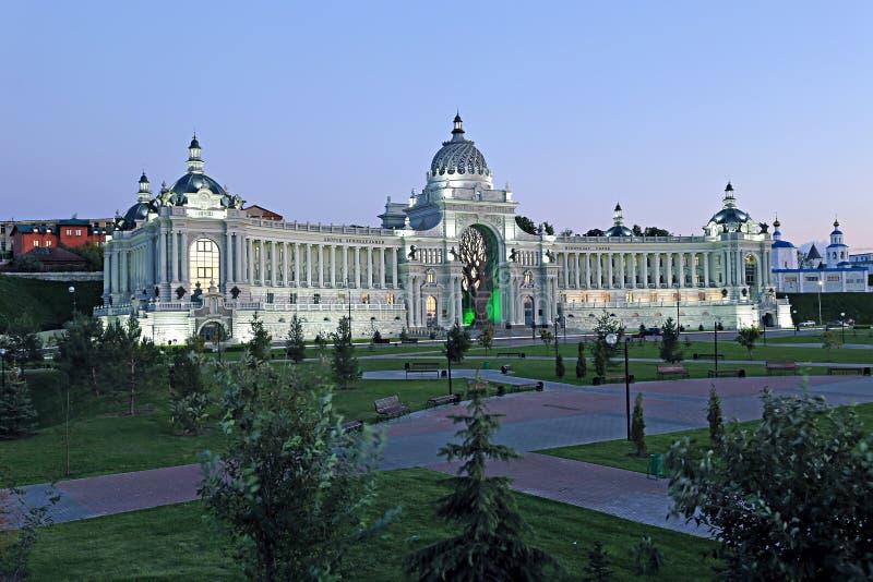 Paleis van landbouwers (Ministerie van Milieu en Landbouw) in Kazan stock afbeeldingen