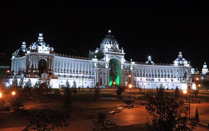 Paleis van landbouwers (Ministerie van Milieu en Landbouw) in Kazan royalty-vrije stock afbeeldingen