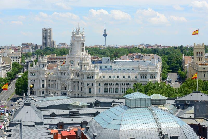 Paleis van Mededeling, Madrid, Spanje stock foto