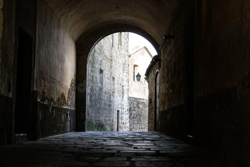 Paleis van Mirabell in Plasencia (Spanje stock foto's