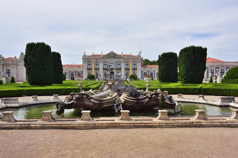 Paleis van Queluz in Portugal royalty-vrije stock foto's