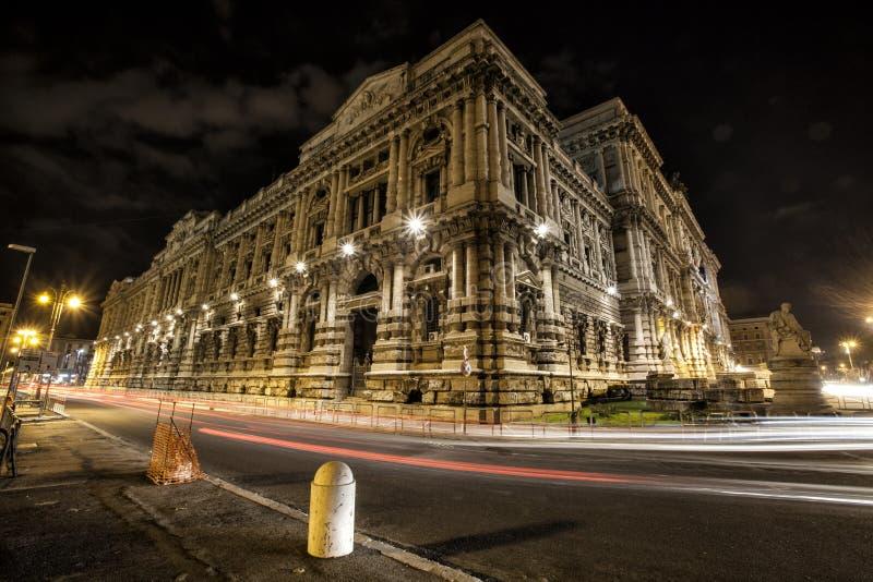 Paleis van Rechtvaardigheid, Hooggerechtshof van Cassatie en de Gerechtelijke Openbare Bibliotheek rome Italië royalty-vrije stock afbeeldingen
