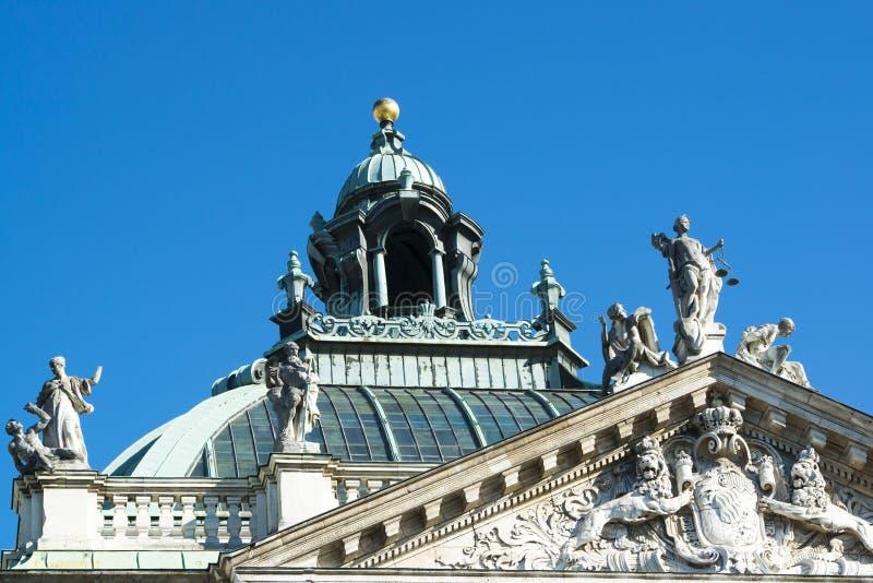 Paleis van Rechtvaardigheid Munich royalty-vrije stock fotografie