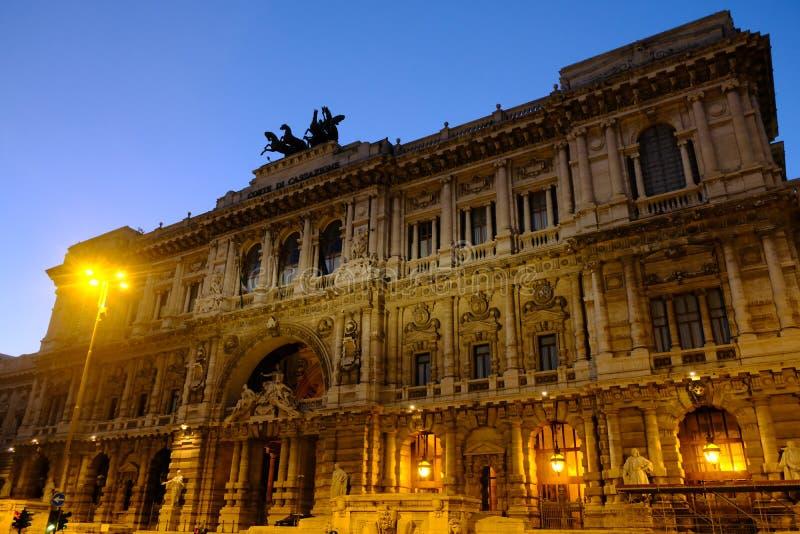 Paleis van Rechtvaardigheid Palazzaccio in Rome, Italië royalty-vrije stock foto's