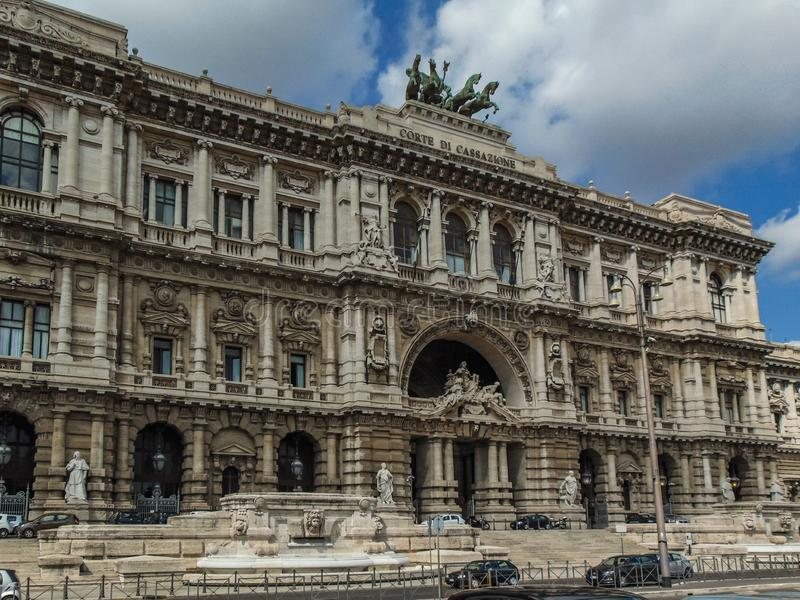 Paleis van Rechtvaardigheid, Rome Italië royalty-vrije stock fotografie