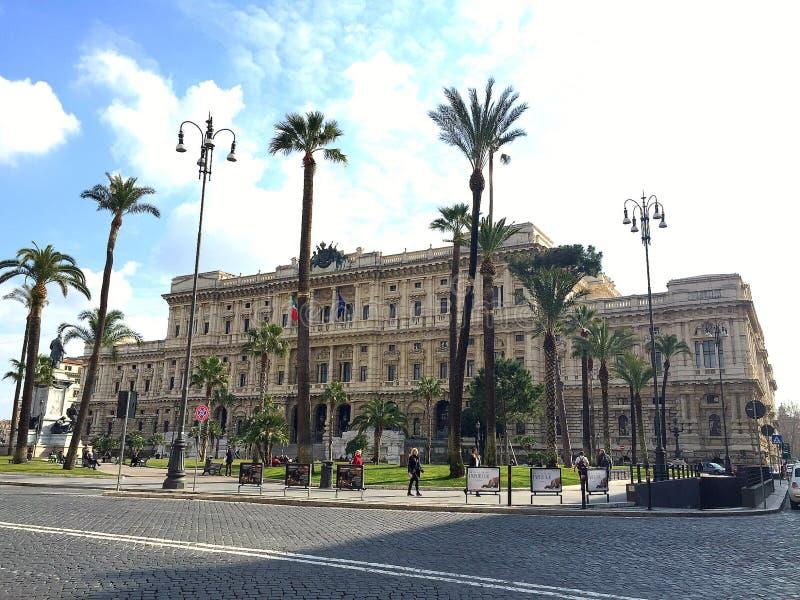 Paleis van Rechtvaardigheid in Rome, Italië stock foto's